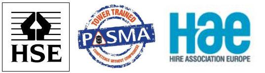 Scaffold tower hire Trade logos